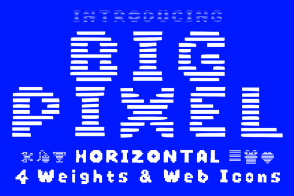 Print on Demand: Big Pixel Horizontal Display Font By GraphicsBam Fonts