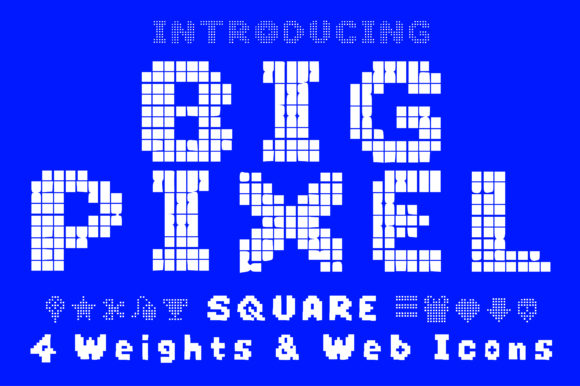 Print on Demand: Big Pixel Display Font By GraphicsBam Fonts
