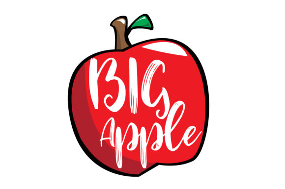 Download Free Big Apple Graphic By Rfg Creative Fabrica for Cricut Explore, Silhouette and other cutting machines.
