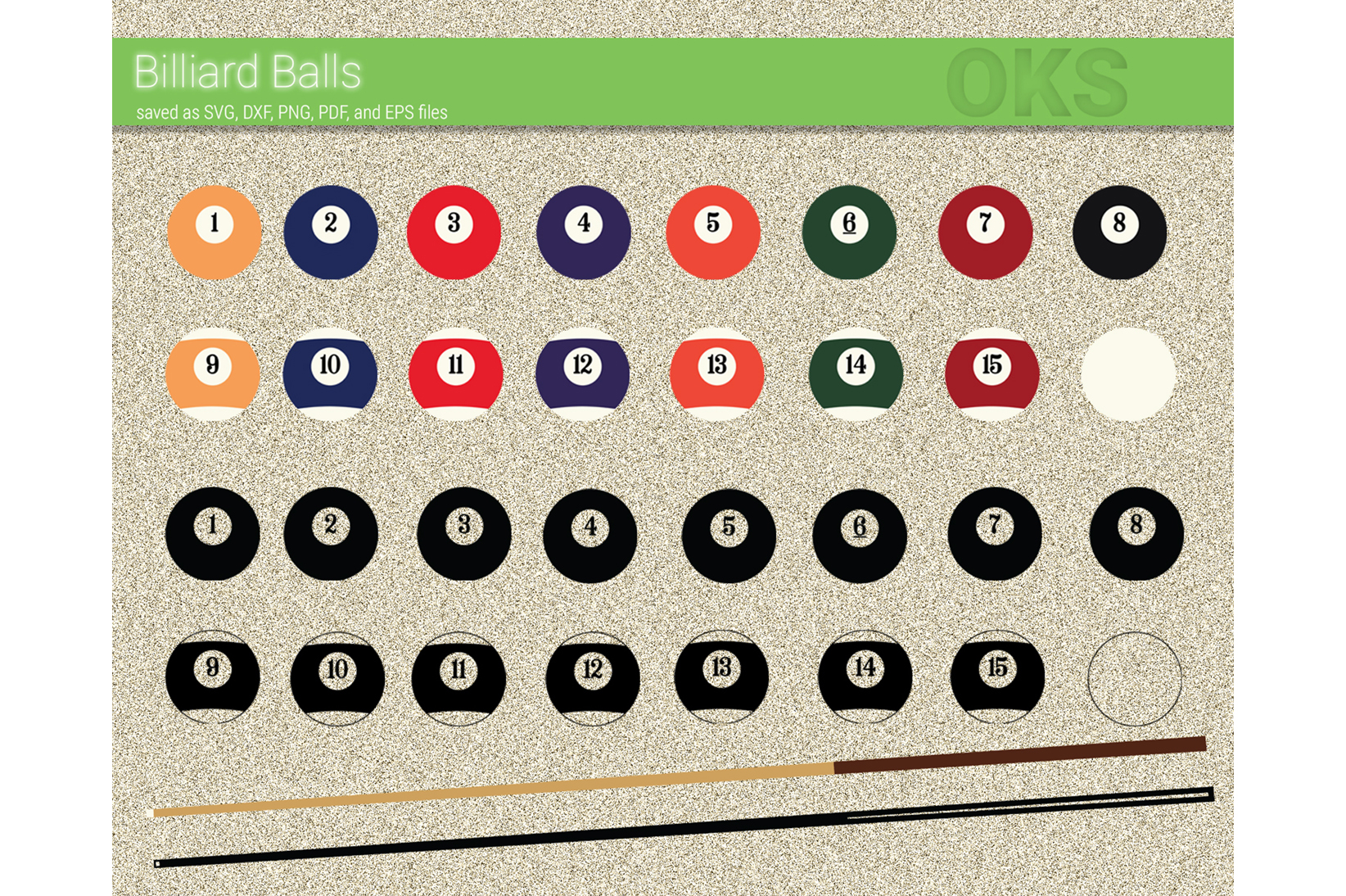 Download Free Billiard Balls Svg Vector Clipart Graphic By Crafteroks for Cricut Explore, Silhouette and other cutting machines.