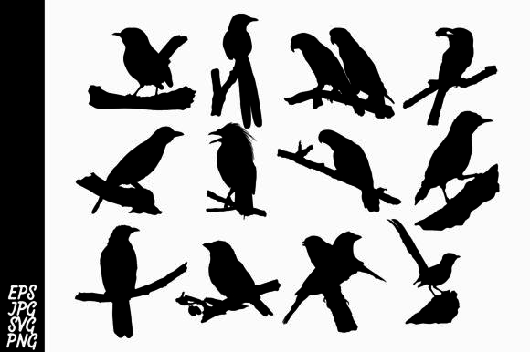 Download Free Bird Silhouette Bundle Graphic By Arief Sapta Adjie Creative for Cricut Explore, Silhouette and other cutting machines.