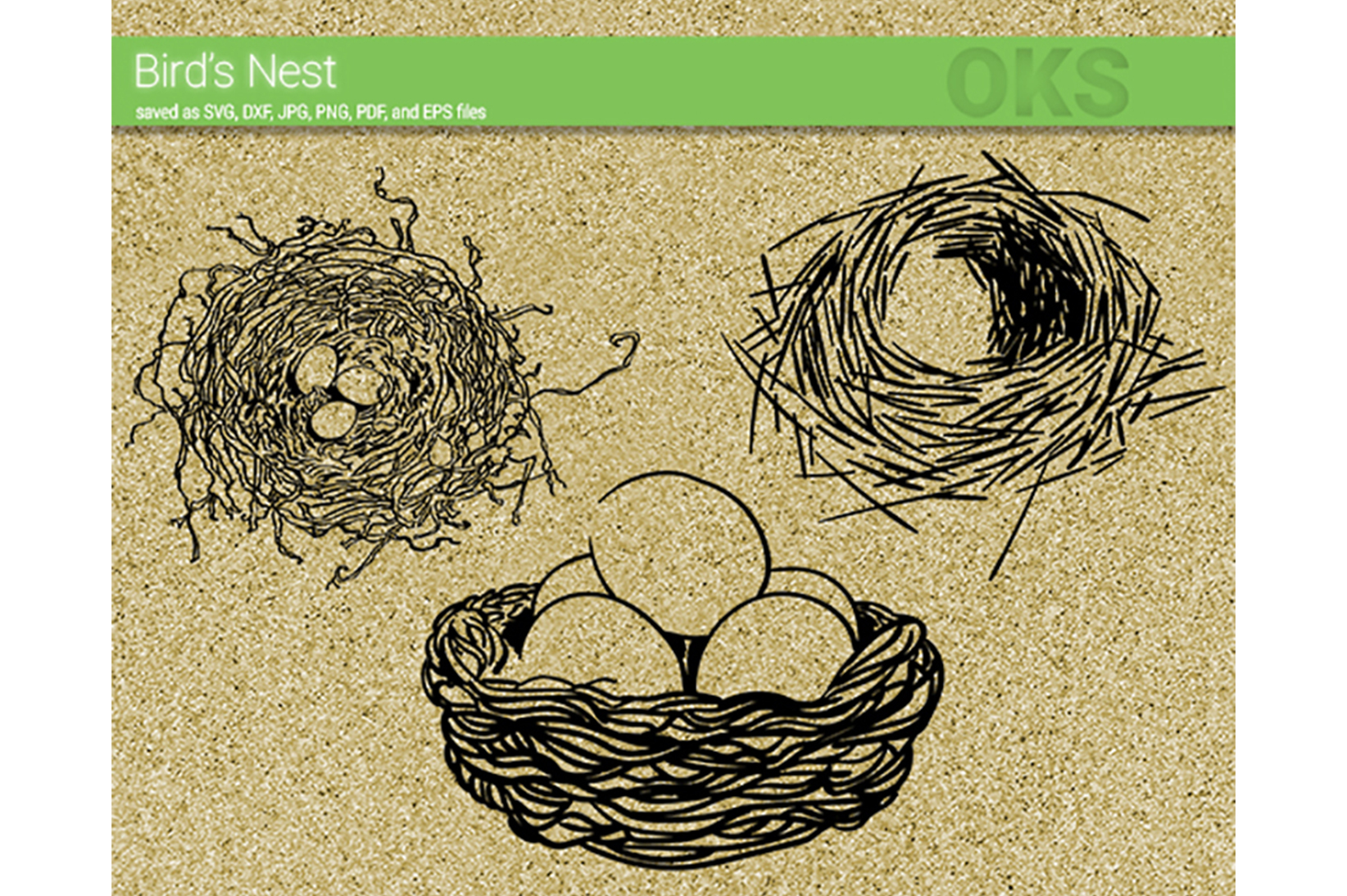 Download Free Bird S Nest Svg Vector Graphic By Crafteroks Creative Fabrica for Cricut Explore, Silhouette and other cutting machines.