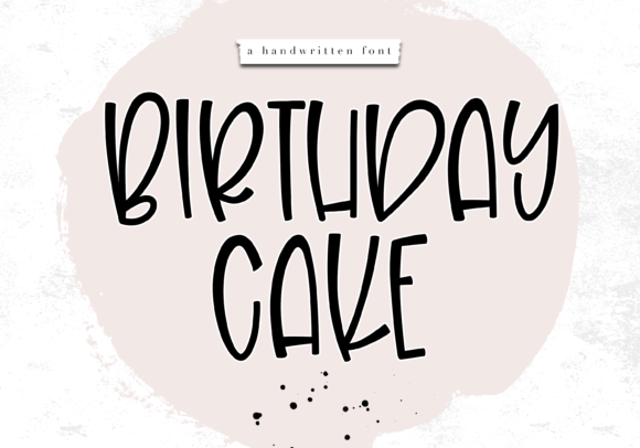 Print on Demand: Birthday Cake Display Font By KA Designs