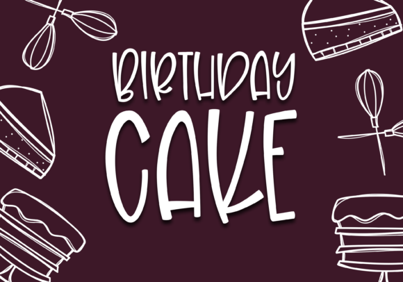 Print on Demand: Birthday Cake Display Font By KA Designs - Image 8