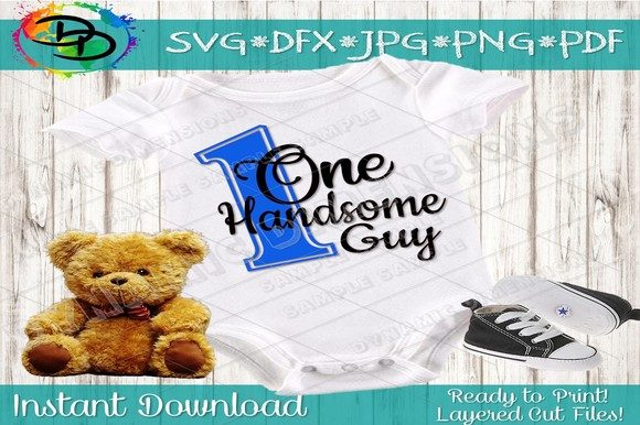 Download Free Birthday Baby Handsome Guy Graphic By Dynamicdimensions for Cricut Explore, Silhouette and other cutting machines.