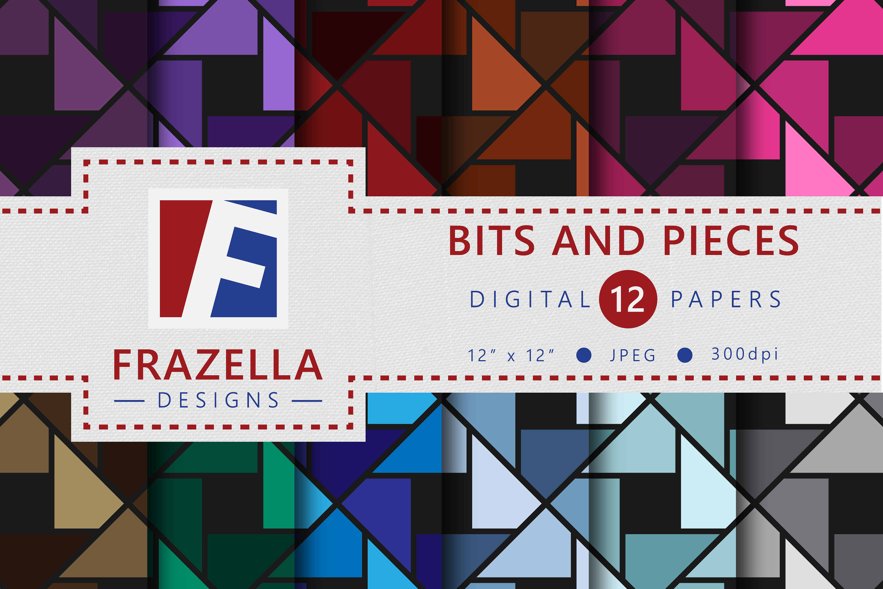 Download Free Bits And Pieces Digital Paper Collection Graphic By Frazella for Cricut Explore, Silhouette and other cutting machines.