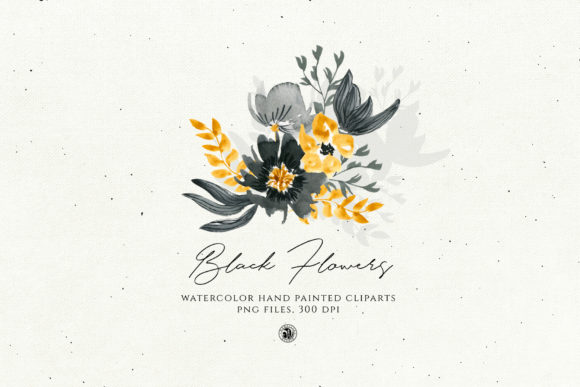 Black Flowers Graphic Illustrations By webvilla - Image 5