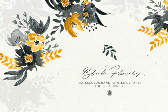 Black Flowers Graphic Illustrations By webvilla