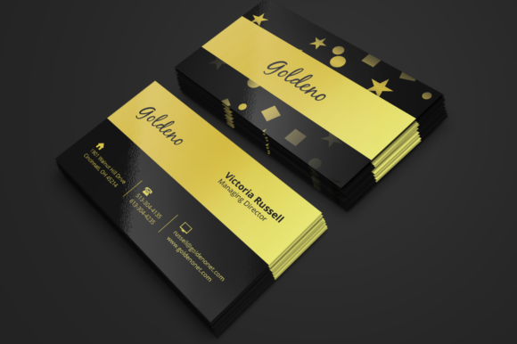 Download Free Black Golden Business Card Graphic By Seemly Designs for Cricut Explore, Silhouette and other cutting machines.