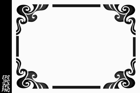 Print on Demand: Black Ornament Border Vector Graphic Backgrounds By Arief Sapta Adjie