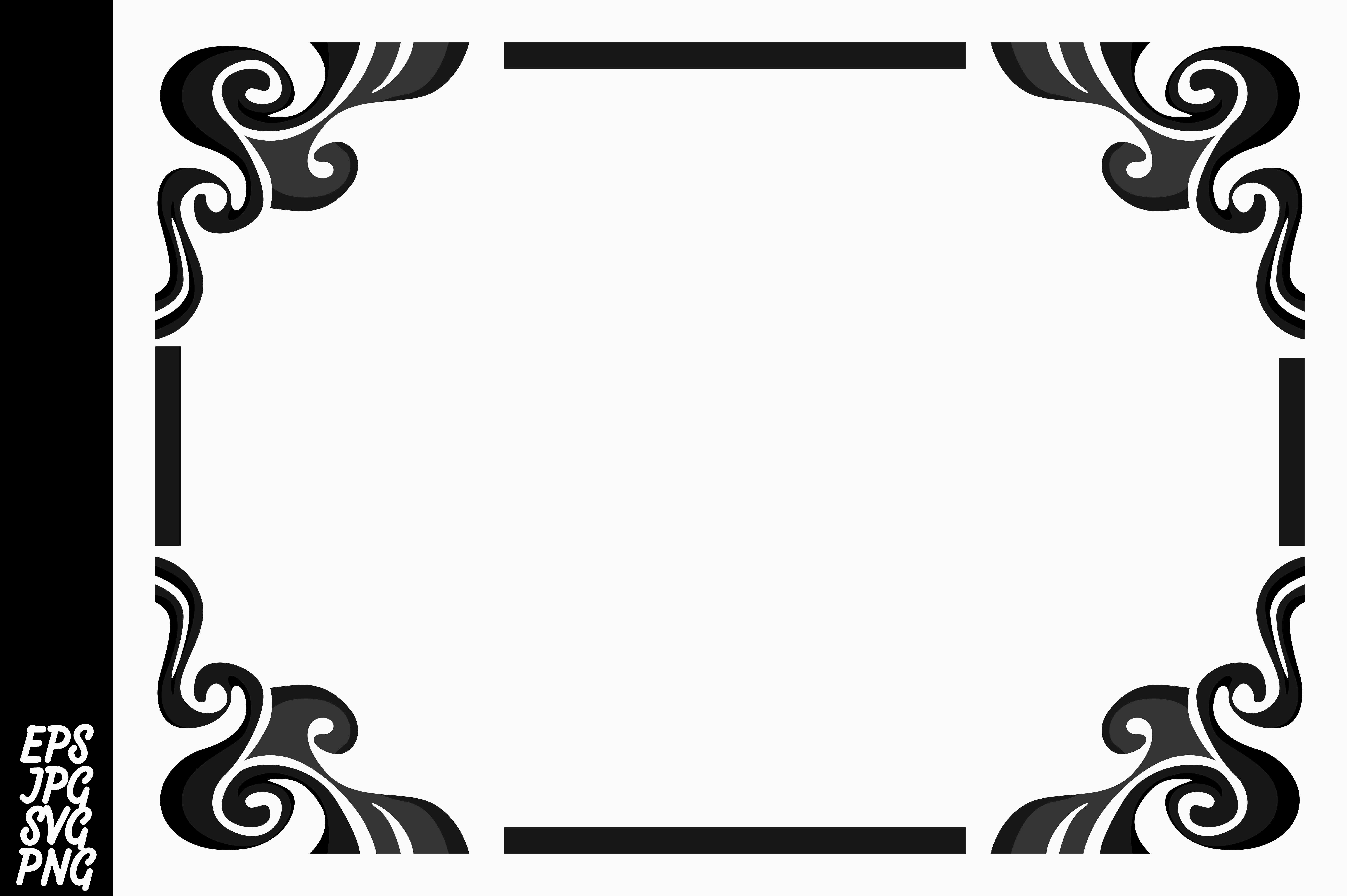 Download Free Black Ornament Border Vector Graphic By Arief Sapta Adjie for Cricut Explore, Silhouette and other cutting machines.