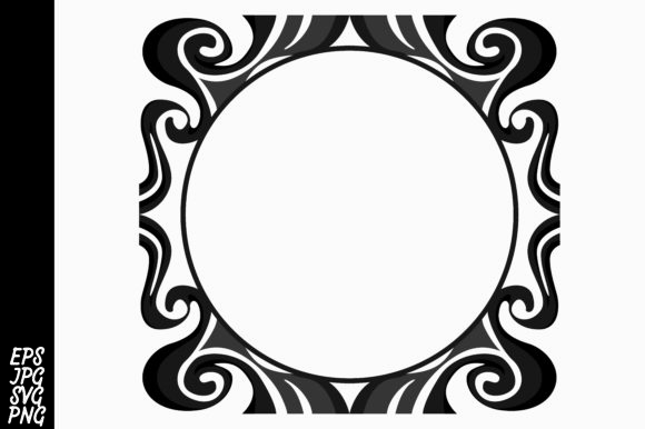 Download Free Black Ornament Vector Graphic By Arief Sapta Adjie Creative for Cricut Explore, Silhouette and other cutting machines.