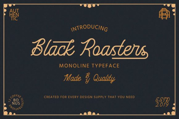 Print on Demand: Black Roasters Script & Handwritten Font By Adriansyah