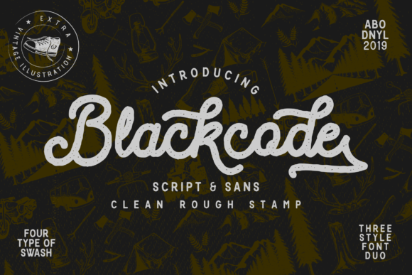 Blackcode Display Font By Abodaniel
