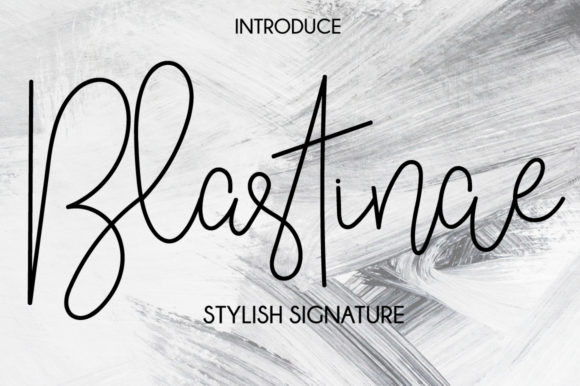 Print on Demand: Blastinae Script & Handwritten Font By Fallengraphic