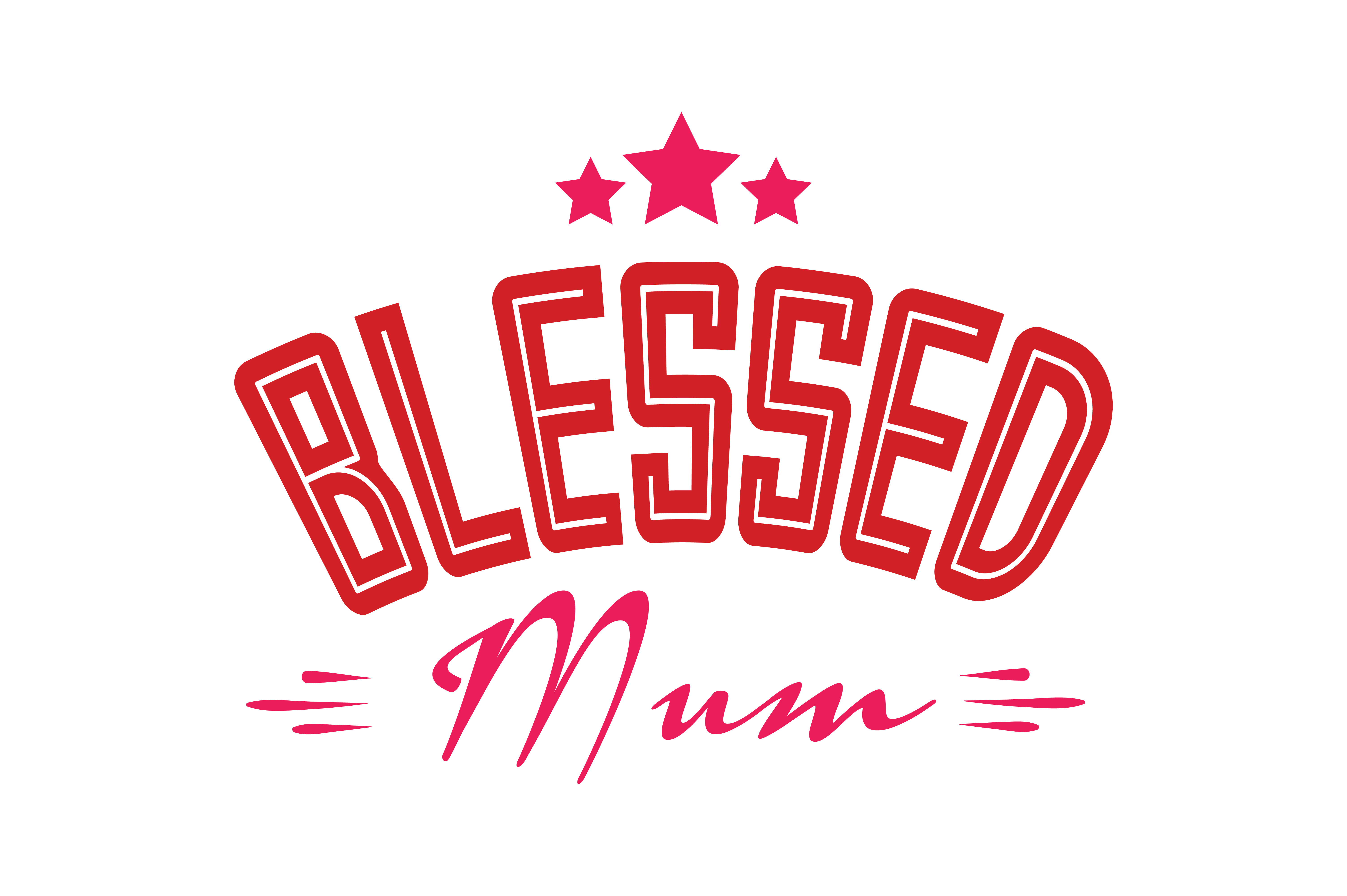 Blessed Mum Quote Svg Cut Graphic By Thelucky Creative Fabrica