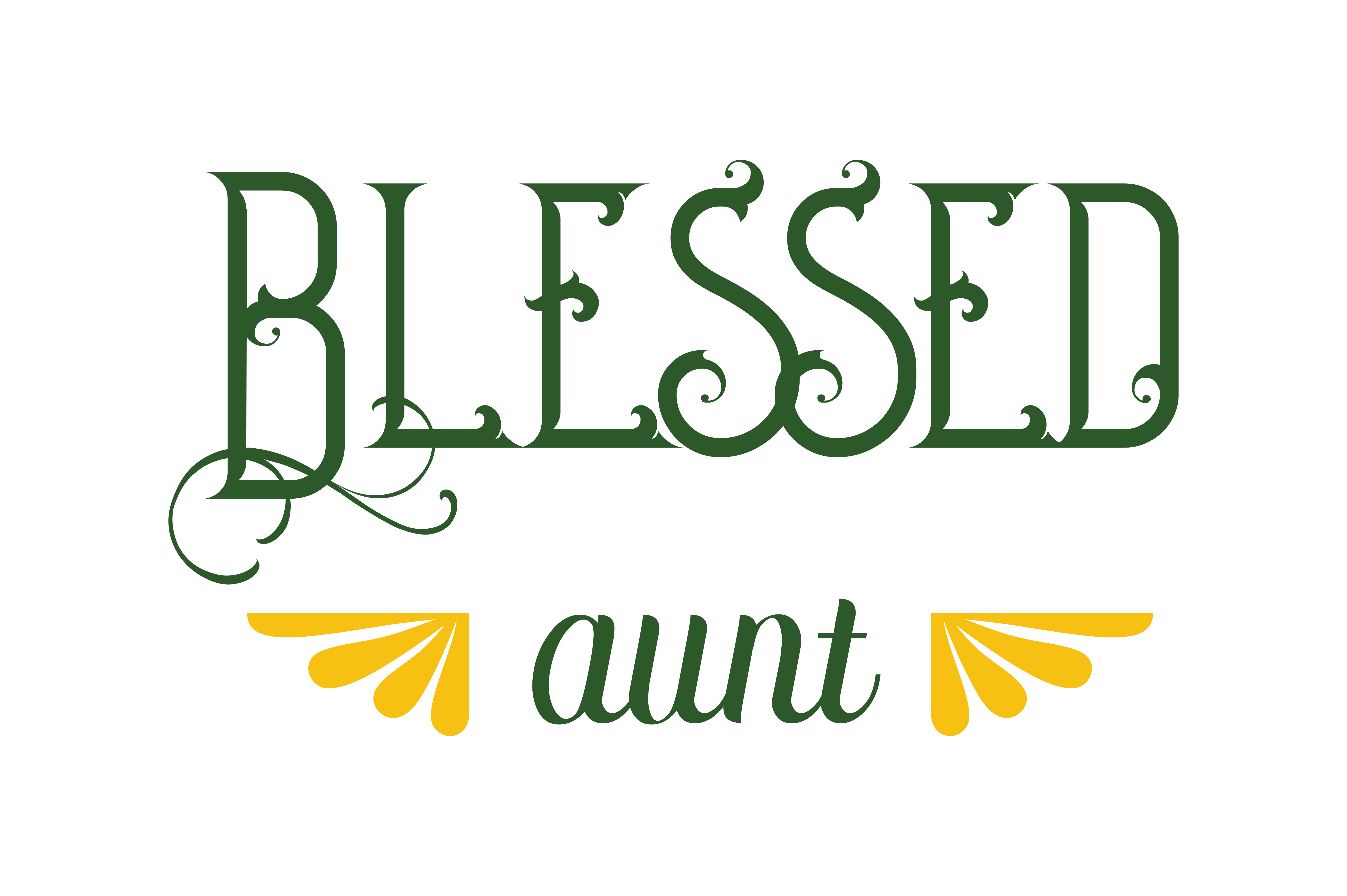 Download Free Blessed Aunt Quote Svg Cut Graphic By Thelucky Creative Fabrica for Cricut Explore, Silhouette and other cutting machines.