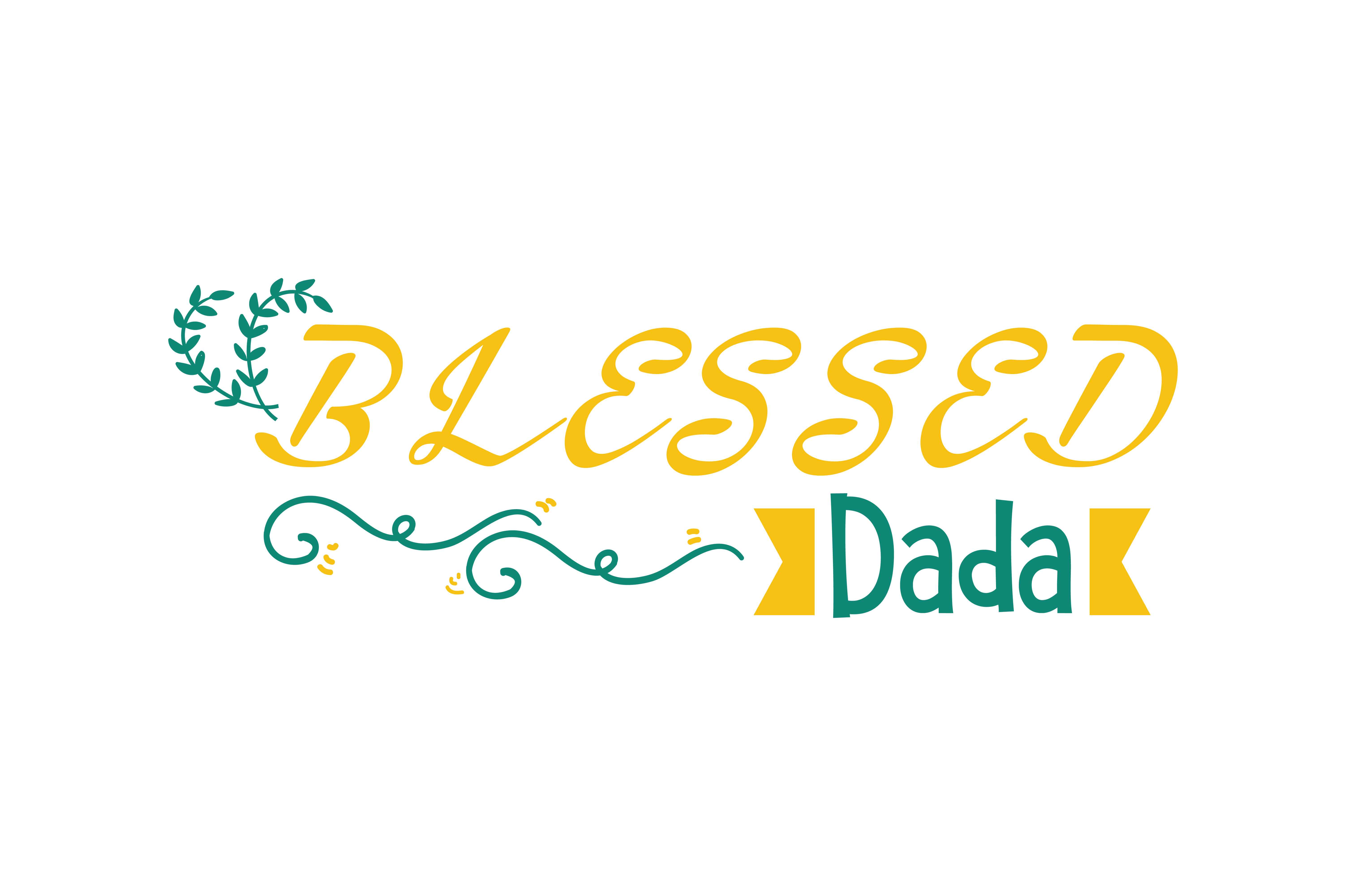 Download Free Blessed Dada Quote Svg Cut Graphic By Thelucky Creative Fabrica for Cricut Explore, Silhouette and other cutting machines.