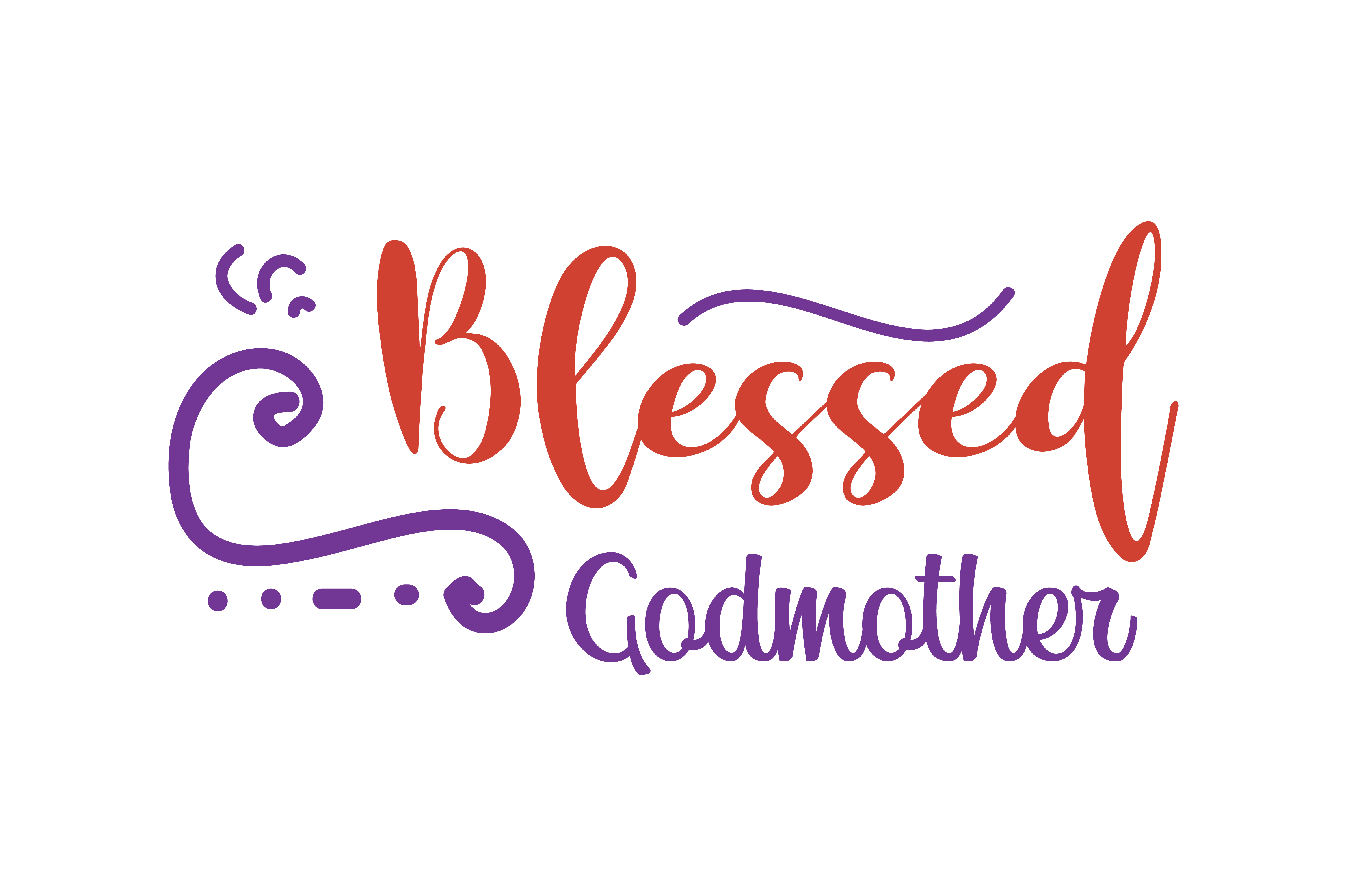 Download Free Blessed Godmother Quote Svg Cut Graphic By Thelucky Creative for Cricut Explore, Silhouette and other cutting machines.