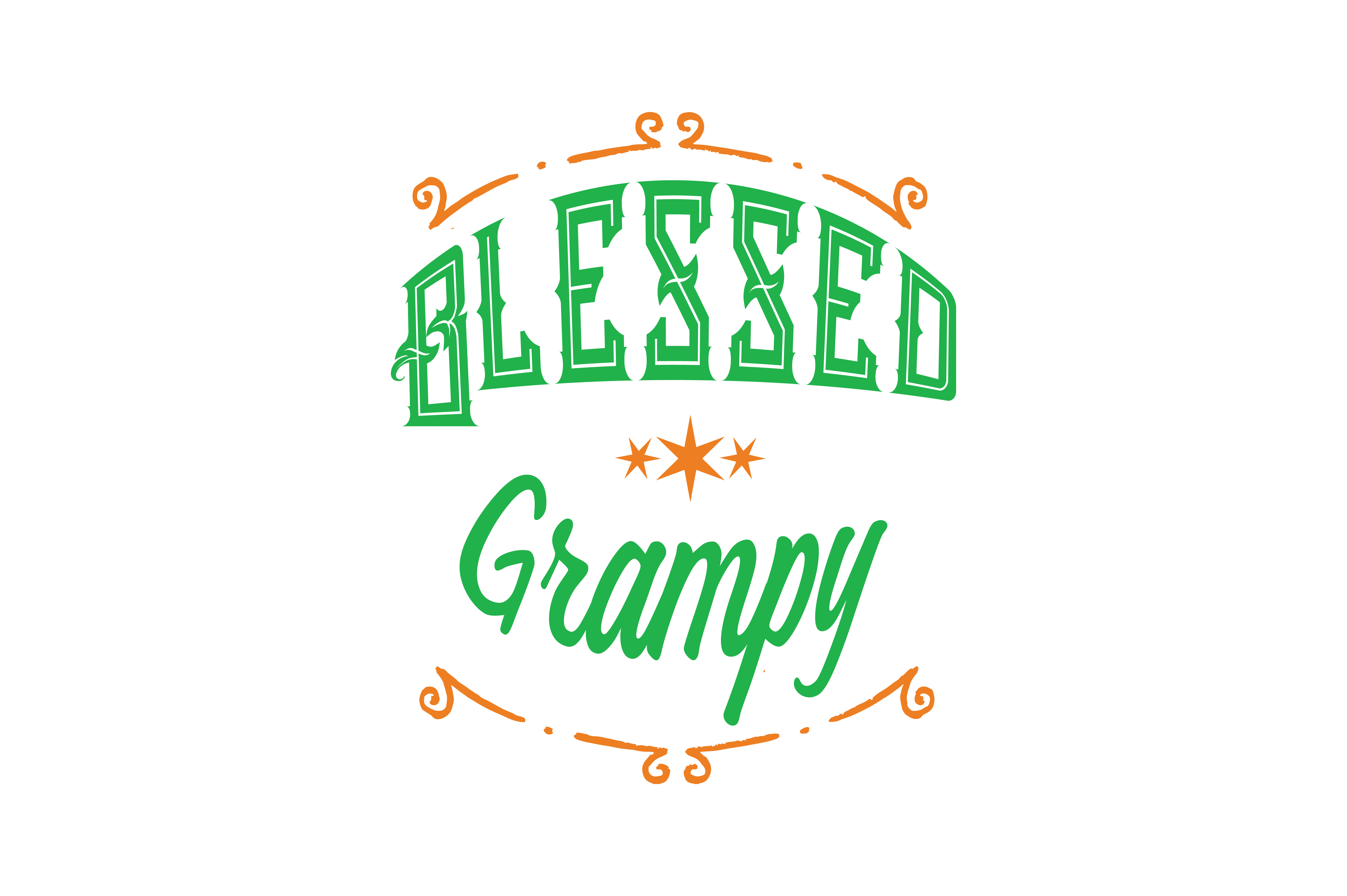 Download Free Blessed Grampy Quote Svg Cut Graphic By Thelucky Creative Fabrica for Cricut Explore, Silhouette and other cutting machines.