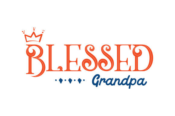Print on Demand: Blessed Grandpa Quote SVG Cut Graphic Crafts By TheLucky