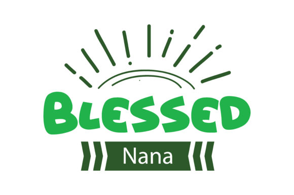 Print on Demand: Blessed Nana Quote SVG Cut Graphic Crafts By TheLucky