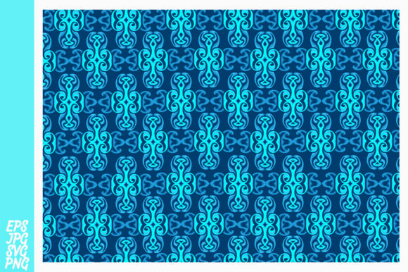 Download Free Blue Ornament Pattern Background Graphic By Arief Sapta Adjie for Cricut Explore, Silhouette and other cutting machines.