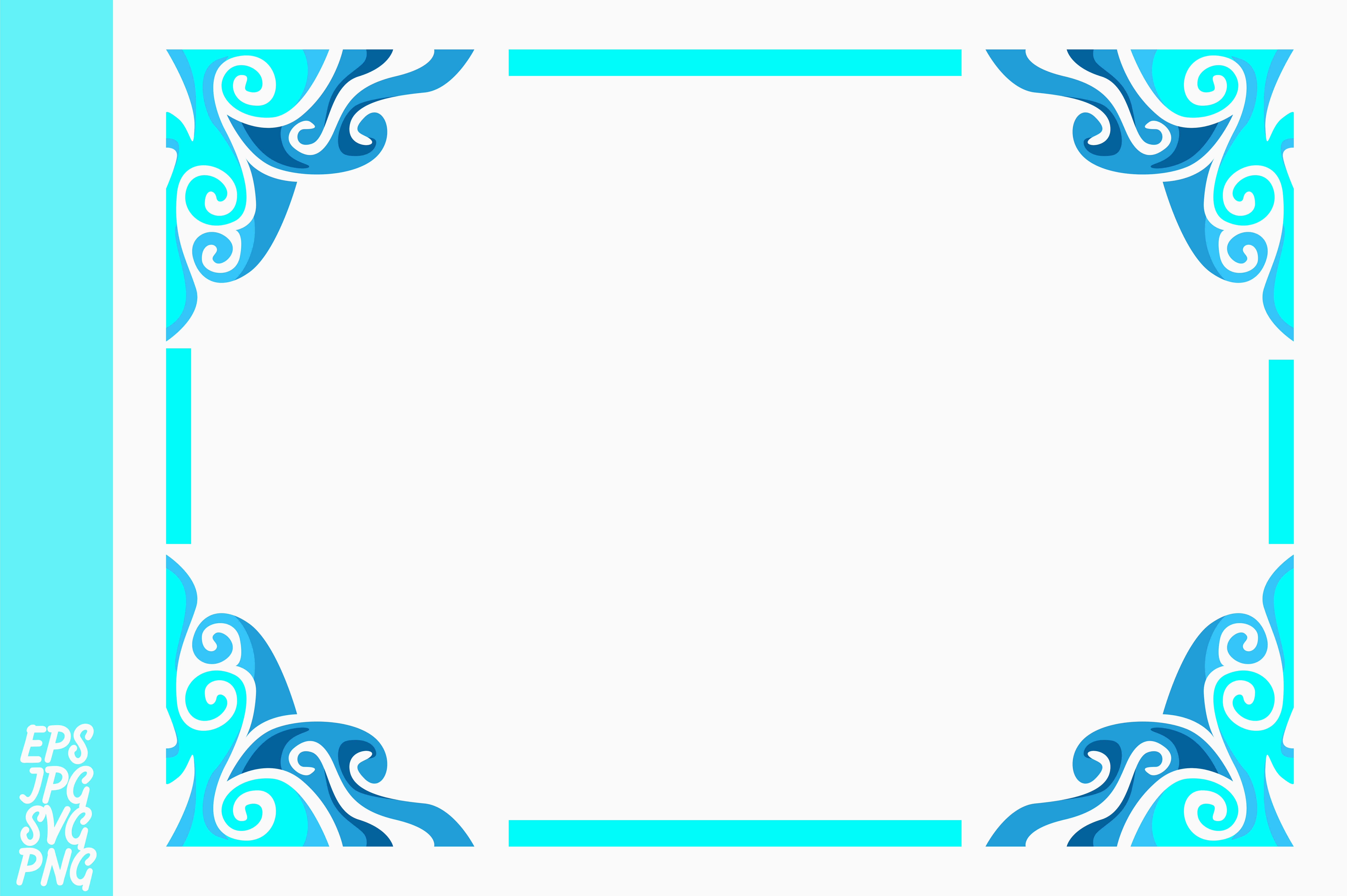 Download Free Blue Ornament Border Vector Graphic By Arief Sapta Adjie Ii for Cricut Explore, Silhouette and other cutting machines.