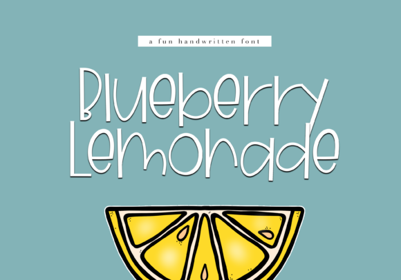 Print on Demand: Blueberry Lemonade Display Font By KA Designs
