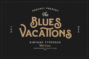 Blues Vacations Font By lickermelody