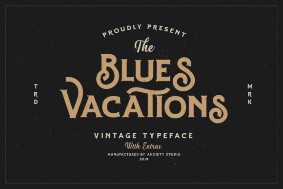 Print on Demand: Blues Vacations Display Font By lickermelody