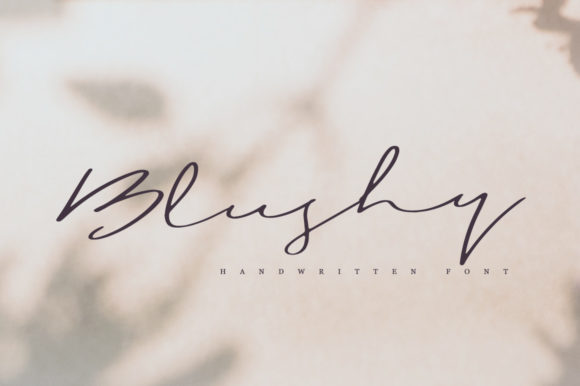 Print on Demand: Blushy Script & Handwritten Font By Katie Holland