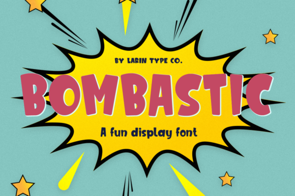 Print on Demand: Bombastic Display Font By Pasha Larin - Image 1