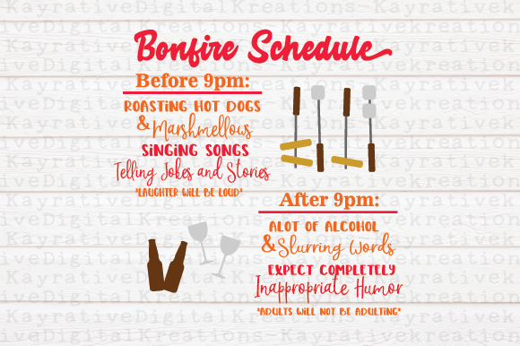 Download Free Bonfire Camping Graphic By Kayla Griffin Creative Fabrica for Cricut Explore, Silhouette and other cutting machines.