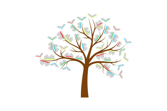 Book Tree Svg Cut File By Creative Fabrica Crafts Creative Fabrica