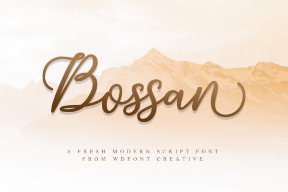 Print on Demand: Bossan Script & Handwritten Font By wdfont.creative