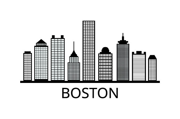 Print on Demand: Boston Skyline Graphic Illustrations By marco.livolsi2014