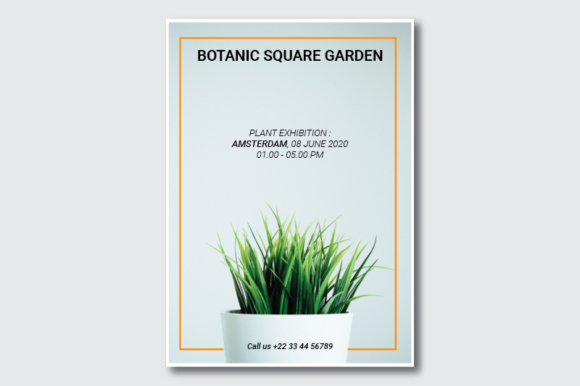 Botanical Square Garden Flyer Graphic By nirmala.graphics