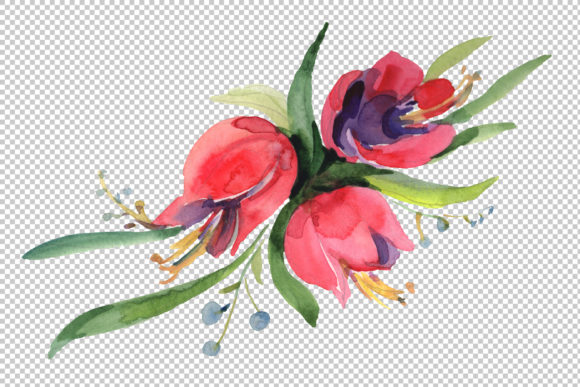 Download Free Bouquet April Sun Watercolor Graphic By Mystocks Creative Fabrica for Cricut Explore, Silhouette and other cutting machines.