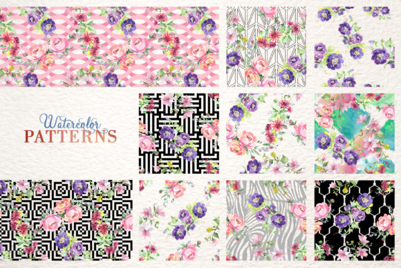 Print on Demand: Bouquet with Wildflowers Set Watercolor Graphic Illustrations By MyStocks - Image 3