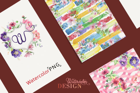 Print on Demand: Bouquet with Wildflowers Set Watercolor Graphic Illustrations By MyStocks - Image 4