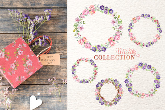 Print on Demand: Bouquet with Wildflowers Set Watercolor Graphic Illustrations By MyStocks - Image 6