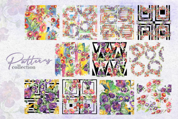 Print on Demand: Bouquet with Wildflowers Watercolor Png Graphic Illustrations By MyStocks - Image 2