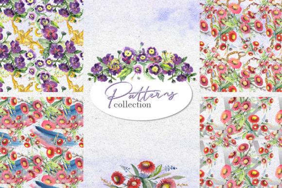 Print on Demand: Bouquet with Wildflowers Watercolor Png Graphic Illustrations By MyStocks - Image 3
