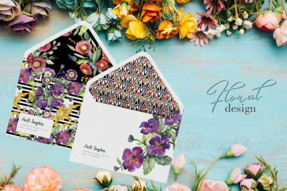 Print on Demand: Bouquet with Wildflowers Watercolor Png Graphic Illustrations By MyStocks - Image 4