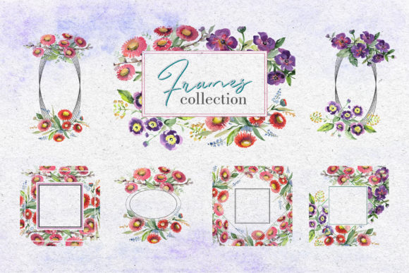 Print on Demand: Bouquet with Wildflowers Watercolor Png Graphic Illustrations By MyStocks - Image 5