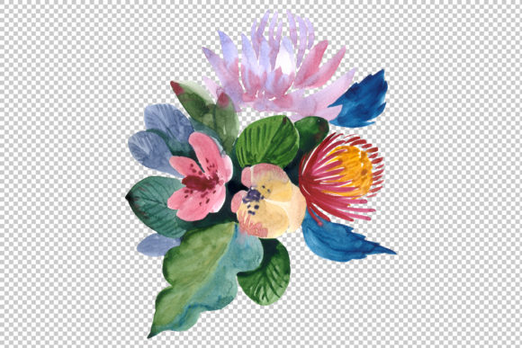 Print on Demand: Bouquets Wildflowers, Roses,leaves Graphic Illustrations By MyStocks - Image 2