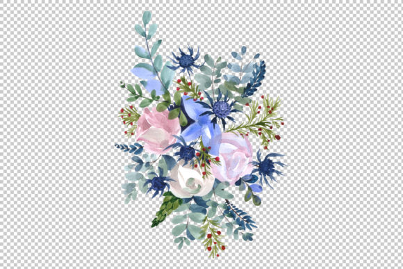 Print on Demand: Bouquets Wildflowers, Roses,leaves Graphic Illustrations By MyStocks - Image 4