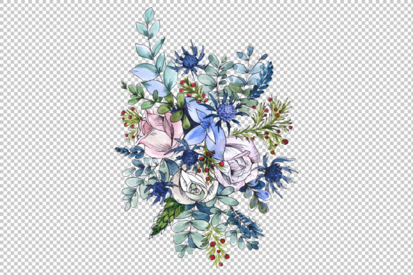 Print on Demand: Bouquets Wildflowers, Roses,leaves Graphic Illustrations By MyStocks - Image 5