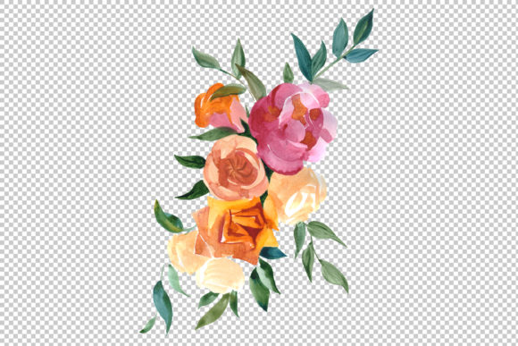 Print on Demand: Bouquets Wildflowers, Roses,leaves Graphic Illustrations By MyStocks - Image 6